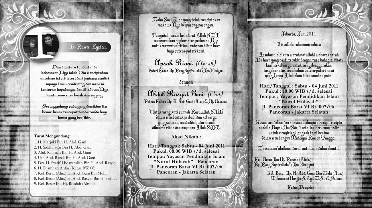 desain terbaru kartu undangan pernikahan dari faluziaproject!!!